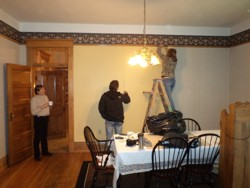 October 14, 2011 - Renolds house at the B&B - Paint the Dining room yellow by hardmacktack nonsicky.